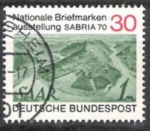 Bund Nº 619 Timbres Exposition Sabria 1970, Estampillé-stellung Sabria 1970, Gestempeltfr-fr Afficher Le Titre D'origine