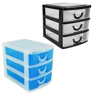 Mini Desk Storage Trays 3 Drawer Set