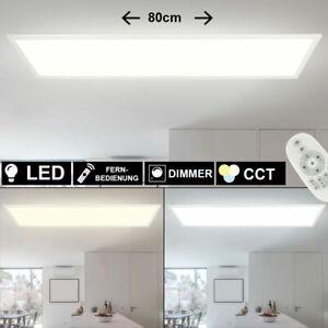 RGB LED Ein Aufbau Panel Decken Lampe Fernbedienung ALU Büro Leuchte dimmbar