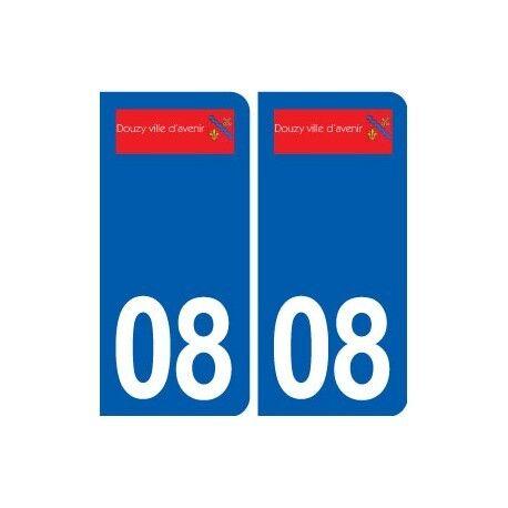 08 Douzy logo ville autocollant plaque stickers droits