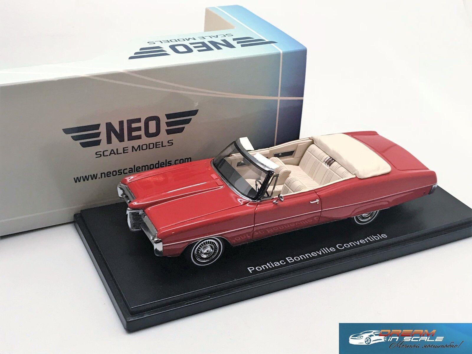 Pontiac Bonneville Convertible 1968 Red NEO 44114 1:43