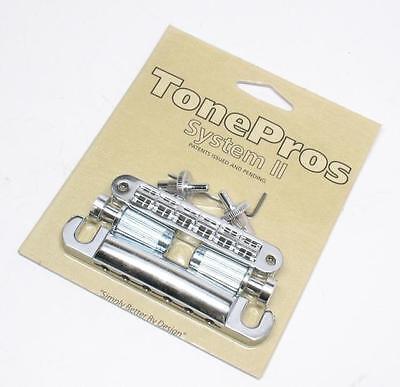 US//Imperial Thread Bridge//Tailpiece Set LPM04-C Tone Pros Standard Chrome