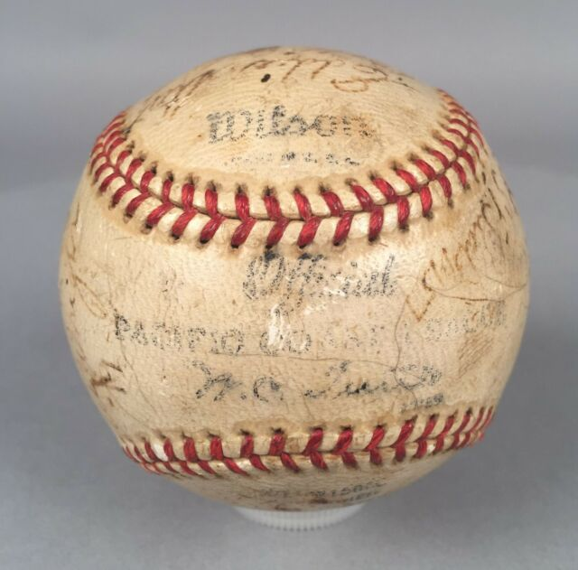 1937 San Francisco Seals Autographed Game Used Baseball Lefty O'Doul DiMaggio