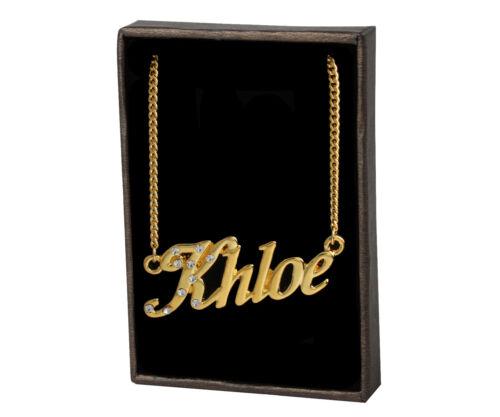 Name Necklace Khloe 18K Gold PlatedBridesmaid Unique Wedding Birthday Gift