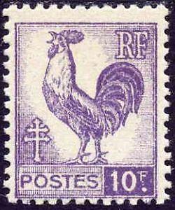 FRANCE-N-646-034-COQ-10F-034-NEUF-xx-TTB