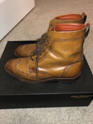 Allen Edmond Dalton boots 8.5 EEE WALNUT