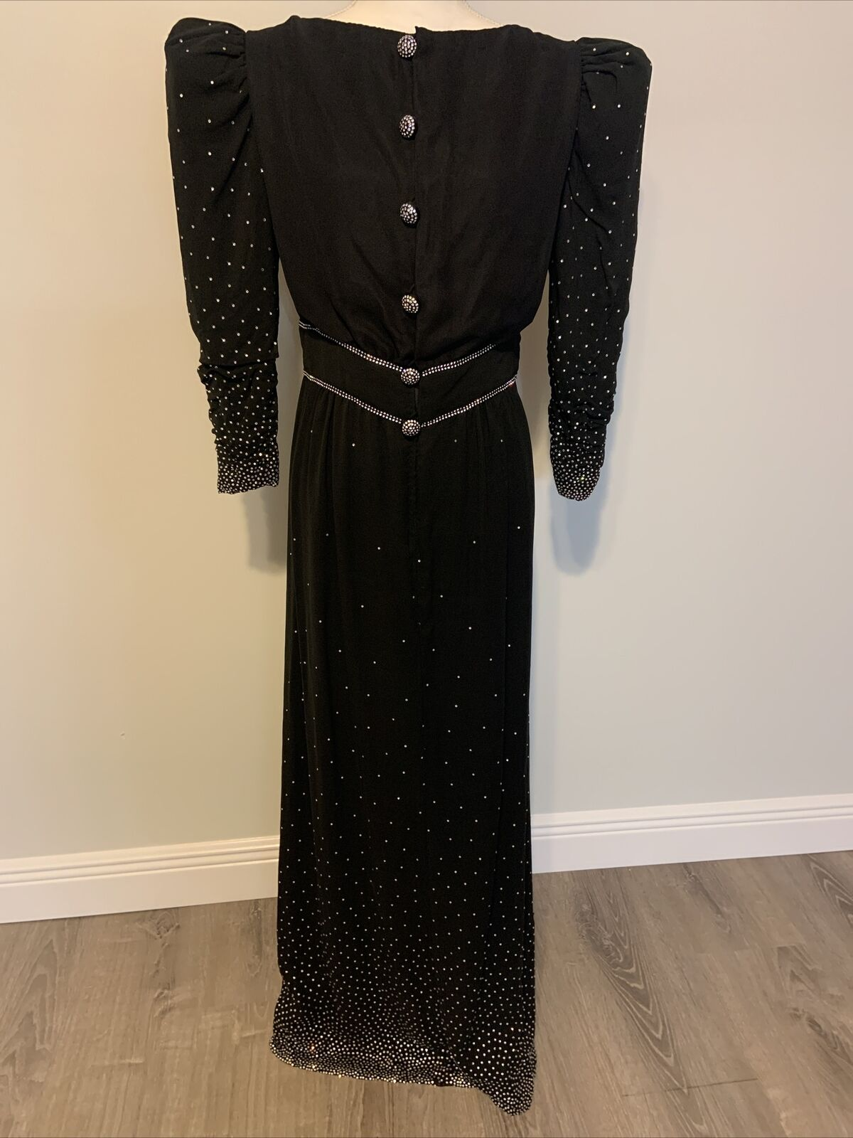 Arnold Scaasi Womens Vintage Couture Black Silk C… - image 1