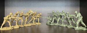 Plastique peloton jouet soldats US marines vs les soldats japonais WW2 nouvelle version