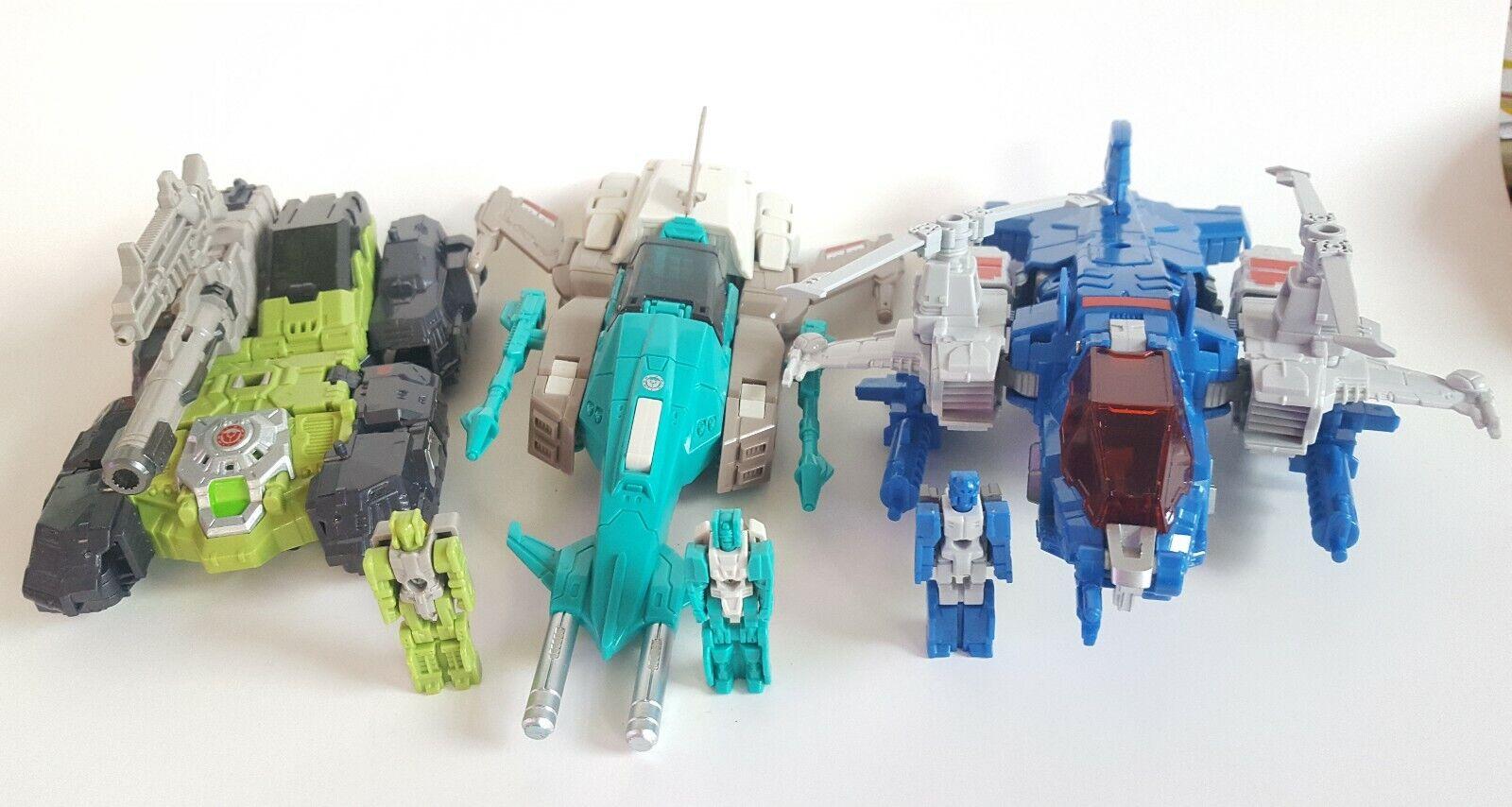 Weijiang Transformers Titans Return Lot  Highbrow, Hardhead, Brainstorm