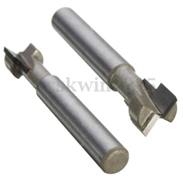 3/8'' x 1/4'' Shank T-Slot Cutter Router Bit Steel Handle for Wood Perforation