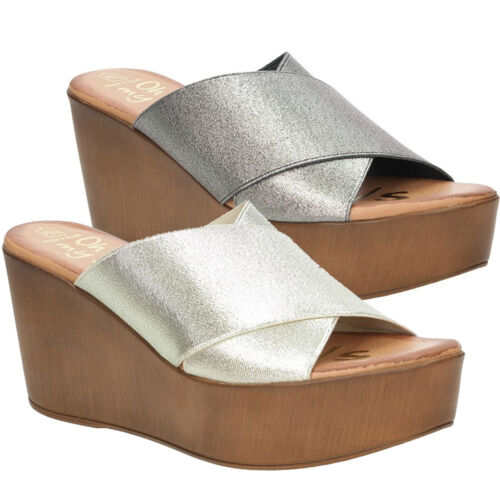 Damen Pantoletten Oh My Sandals 3490 Gold//Silber Sommer Gr 35-40 SALE