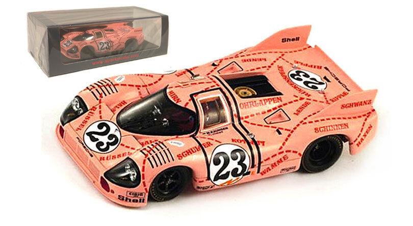 Spark S1896 Porsche 917 20 'Pink Pig' 1971 - Joest Kauhsen 1 43 Scale