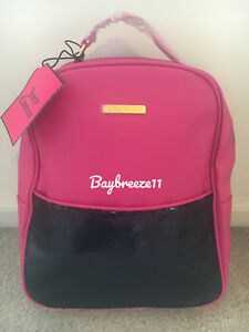 Image is loading NWT-Juicy-Couture-Women-Pink-Zippered-Backpack-FREE- 8589c0d15073