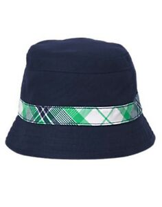 64dbfe22702 Image is loading NWT-Gymboree-Backyard-Explorer-Plaid-Stripe-Bucket-Hat-