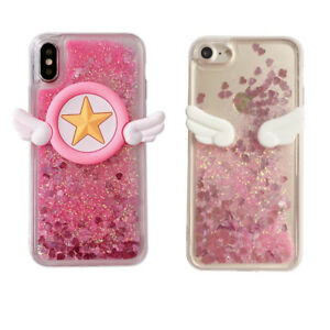 new products 8cd8b 9c455 Details about For Various Phone Case Sailor Moon Angel Wing Dynamic Liquid  Glitter Quicksand