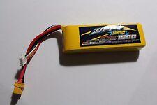 ZIPPY LIGHT WEIGHT 1500Mah 11.1V 3S 25C-35C  LiPo Battery w/ XT60 CONNECTOR