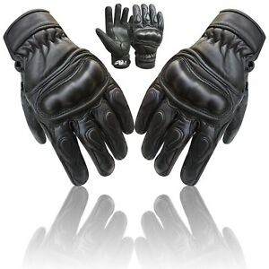 Prime-Motorbike-Shell-Knuckle-Protection-Motorcycle-Cow-Nappa-Leather-Glove-9003
