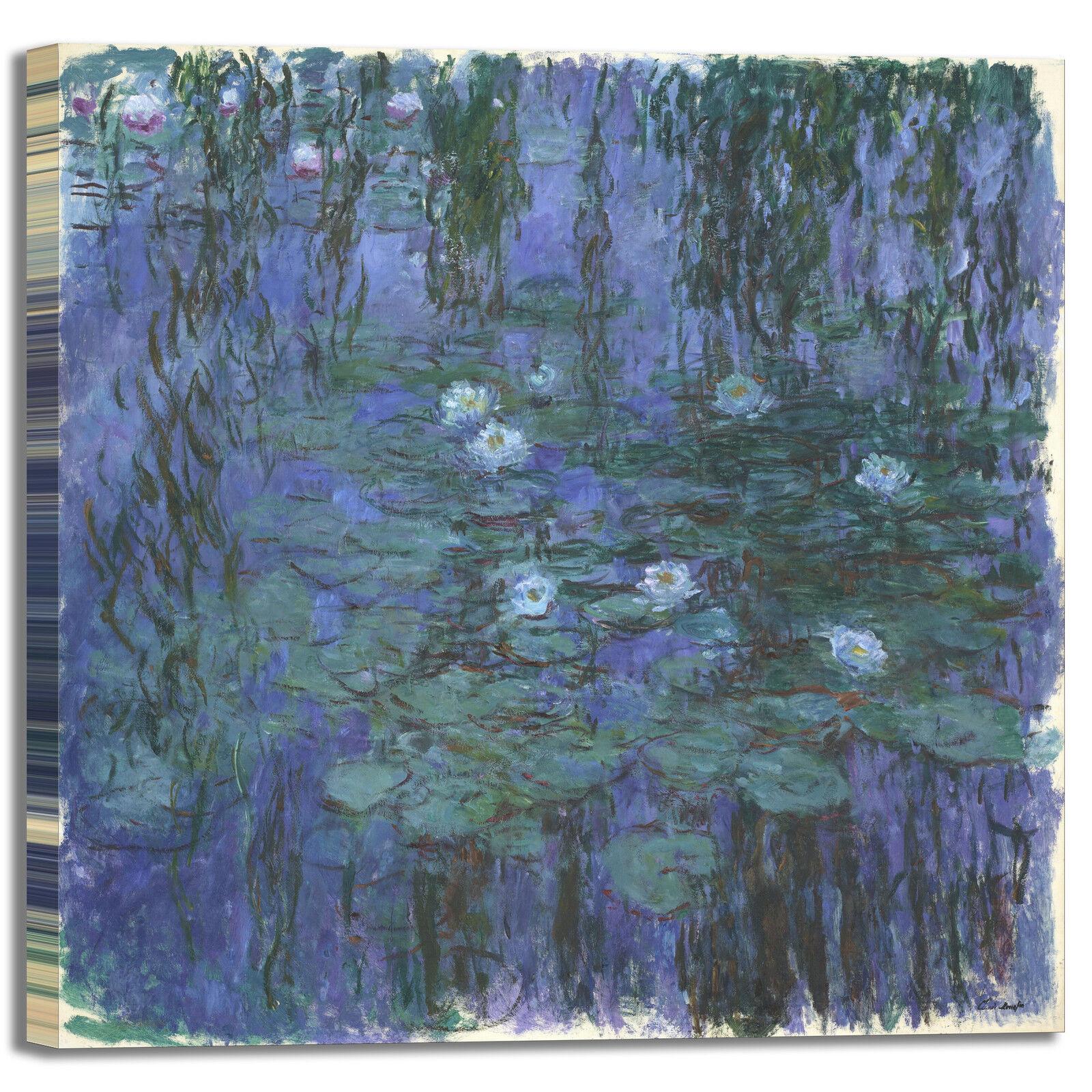 Monet ninfee 16 design quadro stampa tela dipinto telaio arroto casa