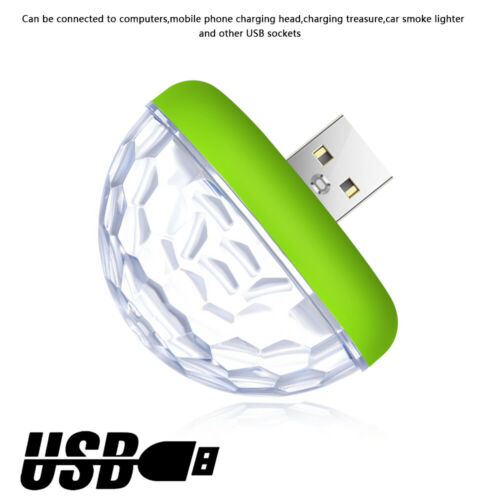 Color USB LED  Voice Controlled Lamp Atmosphere Light Car Interior Lighting