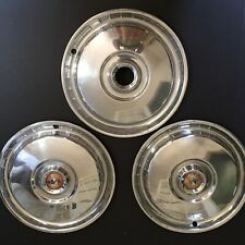 3 1956 Ford Fairlane Sunliner Victoria Thunderbird 15 Wheel Covers Hubcaps