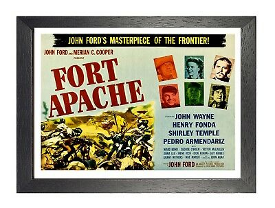49 Fort Apache Vintage Movie Picture Old Advert Print John Ford Film Poster