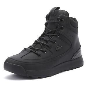 lacoste urban breaker 419 2 mens black boots casual winter