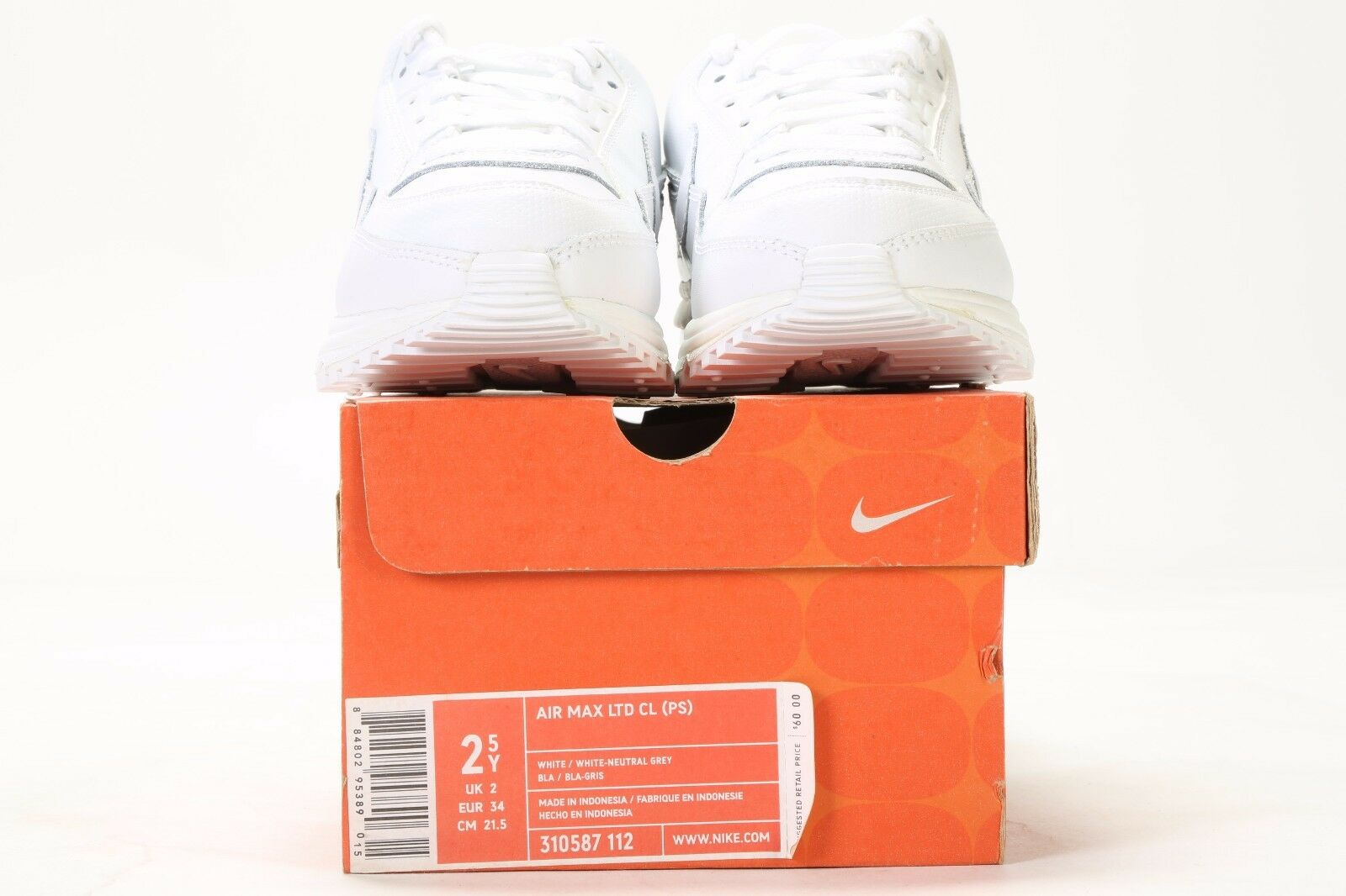 PS msrp: $60 310587-112 WHITE//NEUTRAL GREY VINTAGE 2006 NIKE AIR MAX LTD CL
