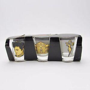 20534ca5305 Image is loading Elvis-Presley-Shot-Glass-Pack-of-3-Graceland-