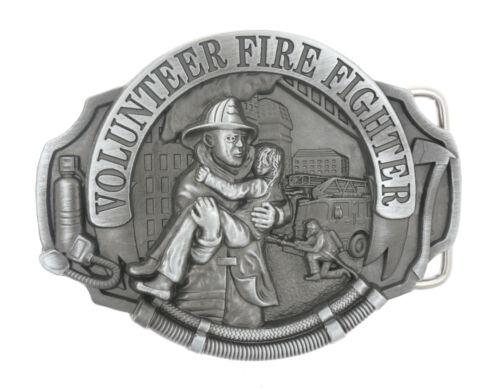 Volunteer Fire Fighter Saving Lives Metal Belt Buckle