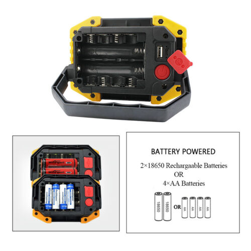 Intelligent Rechargeable LED COB Work Light Power Bank Outdoors Output Charging