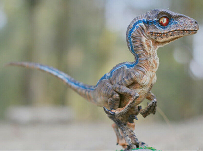 bluee Velociraptor Baby 1 1 Dinosaur Limited Figure Raptor Model Collector Gift