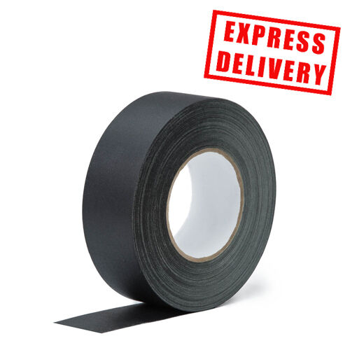 24 X BLACK QUALITY HEAVY DUTY GAFFER Gaffa Duck  Duct Cloth Tapes 50mm x 50m
