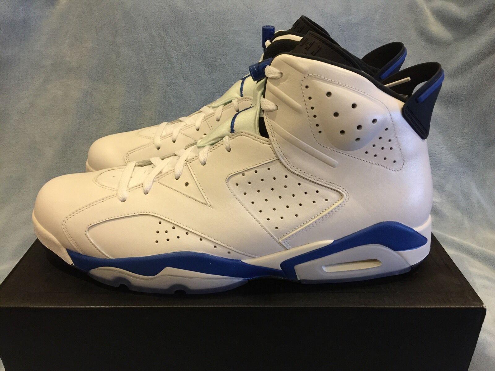 Men's Nike Air Jordan 6 VI Retro 384664-107 Size 17