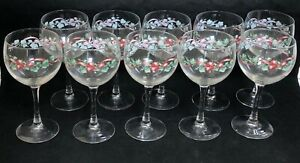 Corelle-Corning-CALLAWAY-HOLIDAY-10-Goblets-10-Ounce-EXCELLENT