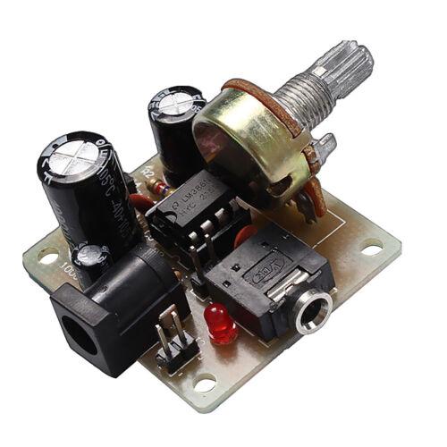LM386 Audio Amplifier Board ICSK025A Power Electronic Suite DIY Kit DC5V-12V