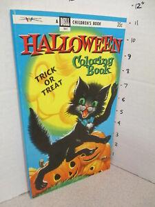 DELL-Halloween-BLACK-CAT-pumpkin-1955-comic-coloring-book-unused-80p-monster