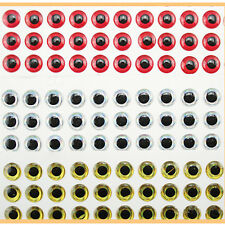 100PCS 3D Fish Eyes Holographic Lure Eyes for FlyTying Jigs Crafts Dolls 8mm