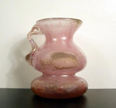 Mits Petit Pichet Artisanal Ancien En Verre Small Ancient Glass Pitcher Art Populaire Elegant In Geur