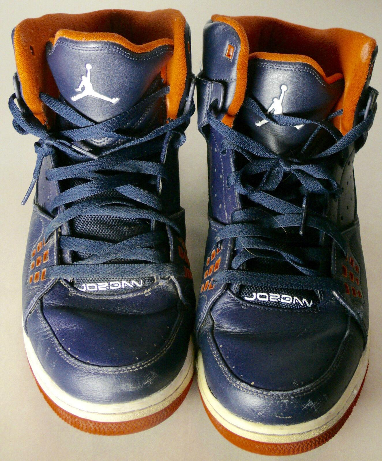 NIKE BASKETBALL SHOES AIR JORDAN SIZE 14 blueE AND orange