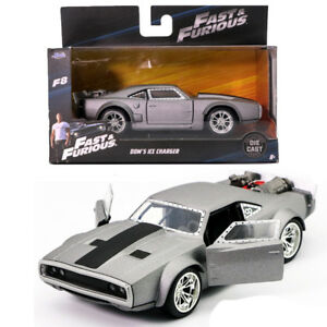 JADA 1:32 FAST AND FURIOUS 8 DOM/'S ICE CHARGER DODGE GREY VINTAGE MODEL CAR TOY