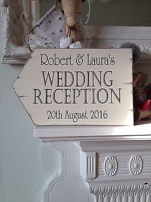 Personalised Vintage Wedding Reception Sign