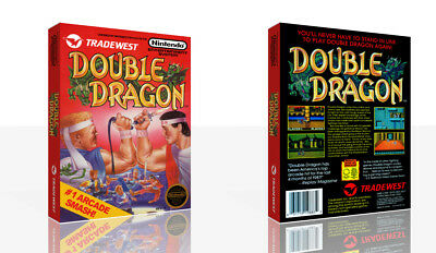 Double Dragon Nes Replacement Spare Game Case Box Cover Art Only