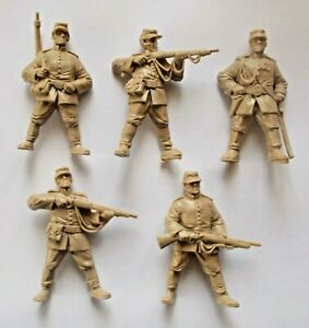 Set-of-5-Russo-Turkish-War-1877-Toy-Plastic-Russian-Soldiers-54-mm-1-32-TEHNOLOG