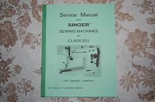 Professional Service Manual on CD for Class 20U Singer Sewing Machines