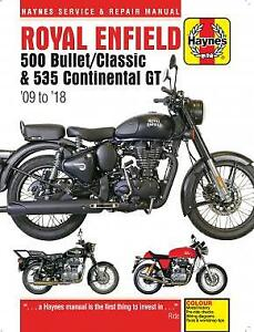 Haynes-Manual-6427-Royal-Enfield-Bullet-Classic-2009-2018-Continental-GT-13-18