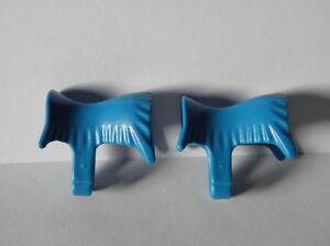 Playmobil Silla Saddle Western Cow Boy Indiens Tapis De Selle Bleu