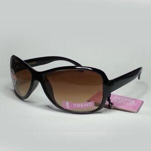 Foster-Grant-Women-Sunglasses-Brown-50mm-Lens-Black-Frame