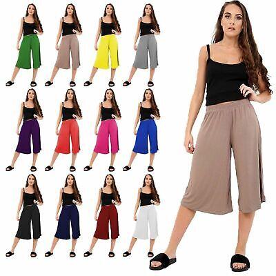 Three Quarter Pants Harem Womens Ladies Stretch French Manufacturing