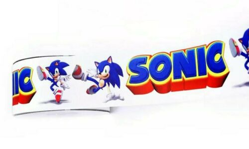 "7//8/"" 2 YARDS Sonic Hedgehog Grosgrain Ribbon Crafts Cards Hair Bows Scrapbooks"