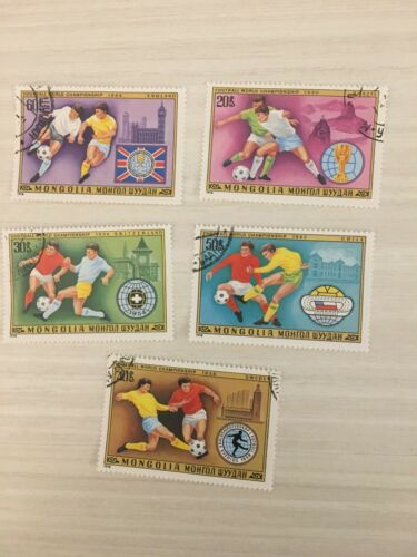 Mongolia Vintage Sports Stamps, Lot of 5, 1978 Football World Championship